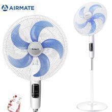 艾美特(Airmate)立式五叶大风量遥控落地扇/家用通风静音节能电风扇/定时遥控风扇 FS4010 白色