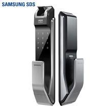 三星 指纹锁密码锁家用防盗门智能电子锁 SHS-P718 流光银