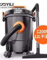 亿力YILI 吸尘器家用车用干湿吹桶式吸尘机6263-12L  实惠版