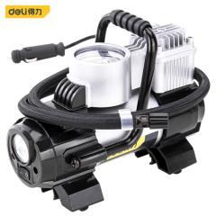 得力(deli) 车载金属充气泵便携式12v电动机械表打气泵 带灯可测压 DL8058