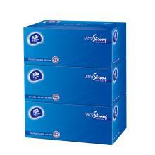 维达(Vinda) 抽纸 超韧3层100抽盒装*3盒纸巾(中规格)