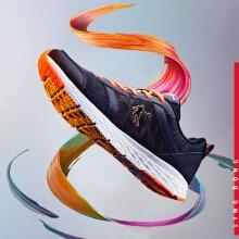 乔丹 男鞋运动鞋减震轻便跑步鞋 XM1560239 黑色/闪亮橘 42